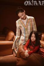 梅婷携一双儿女登封时尚杂志 大片由老公掌镜拍摄