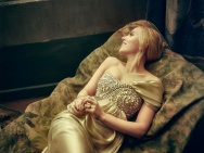 奥斯卡《名利场》写真 寡姐美如油画中的维纳斯