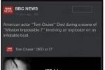辟谣!汤姆·克鲁斯拍《碟中谍7》意外身亡是谣言