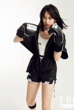 宋茜全新大片挑战运动造型 短发拳击手又飒又美