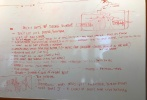 近日,动画电影《蜘蛛侠:平行宇宙》创作团队多名成员分享了该片的一些剧本白板、草稿等,其中还有导演鲍勃·佩尔西凯蒂的涂鸦。制片人菲尔·洛德透露,其实在距离该片上映不到一年时,故事还大改了一番,他们得想办法把已做了故事板和动画化的场景加进去做重建,第三幕也完全打破重来。