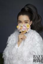 李冰冰登封时尚杂志 复古高马尾造型英姿飒爽!