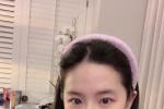 劉亦菲宅家自拍清純靚麗 淡紫色look盡顯脫俗氣質
