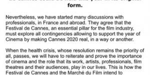 戛納電影節電影市場6月線上營業 片單將陸續公布