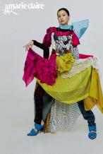 Angelababy头纱西装造型上封 混搭服饰眼花缭乱