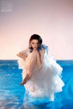 宋祖儿湿发造型登封 珍珠妆甜美动人似小美人鱼