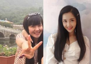 王艺瑾减肥对比照曝光 像杨幂的她原来是个小胖妞