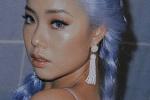王菊染蓝发演绎人鱼造型 穿紧身印花裙秀火辣身材