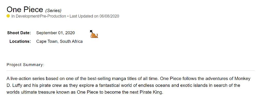 allbet网址:网飞打造真人版《海贼王》 9月1日南非开普敦开拍 第2张