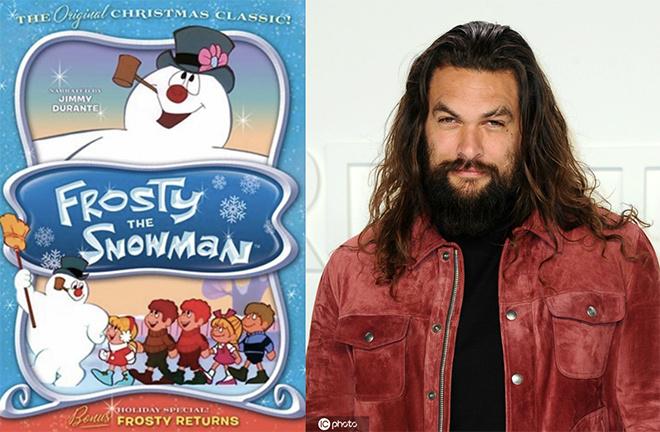 """反差萌!""""海王""""杰森·莫玛将配音《圣诞雪人》"""