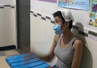 张蓝心拍戏受伤头部流血 经纪人回应:伤口3厘米