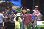 杨紫现身《我和我的家乡》片场 王俊凯背红军包