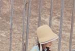 日前,有粉丝晒出一组赵丽颖录制《中餐厅4》的路透照。照片中赵丽颖头戴印花边飘带渔夫帽,双马尾蝎子辫,身穿蓝色短袖T恤和牛仔热裤,单肩背着黄色布包,看起来元气满满,白皙纤细的美腿也十分抢镜。