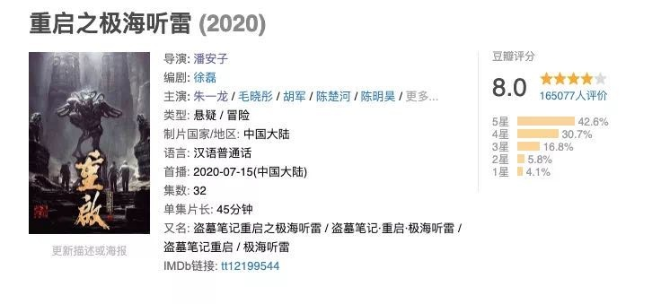"""瑞安人才免费网:南派三叔×朱一龙 《盗墓条记》""""重启""""乐成了吗 第7张"""