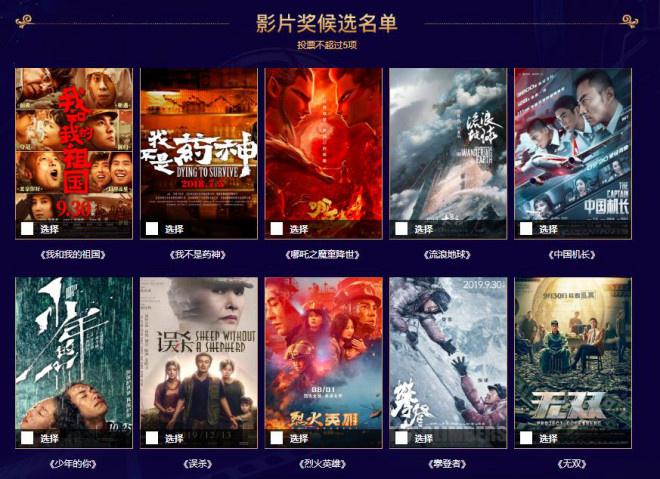 欧博代理:百花奖曝候选名单 《落难地球》等10部影戏入围