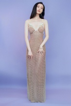 美人鱼本鱼!倪妮穿珍珠吊带透视裙 身材呼之欲出