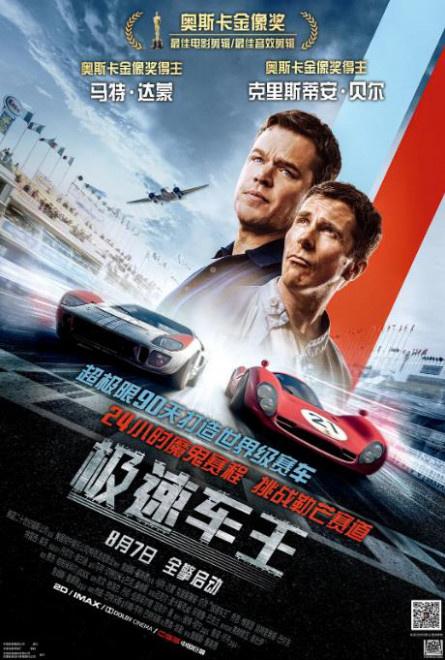 《极速车王》热映 马特·达蒙与贝尔上演双雄会