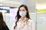 宋妍霏分手后亮相机场 却因助理手机壁纸上热搜