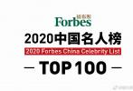 8月27日,2020福布斯中國名人榜發布,TFBOYS易烊千璽擊敗徐崢、周冬雨登頂榜首。排名前十的明星還有周杰倫、張藝興、楊冪、趙麗穎、吳亦凡、王一博、王俊凱。