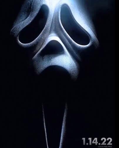 《惊声尖叫5》新版海报首发 将于2022年初上映