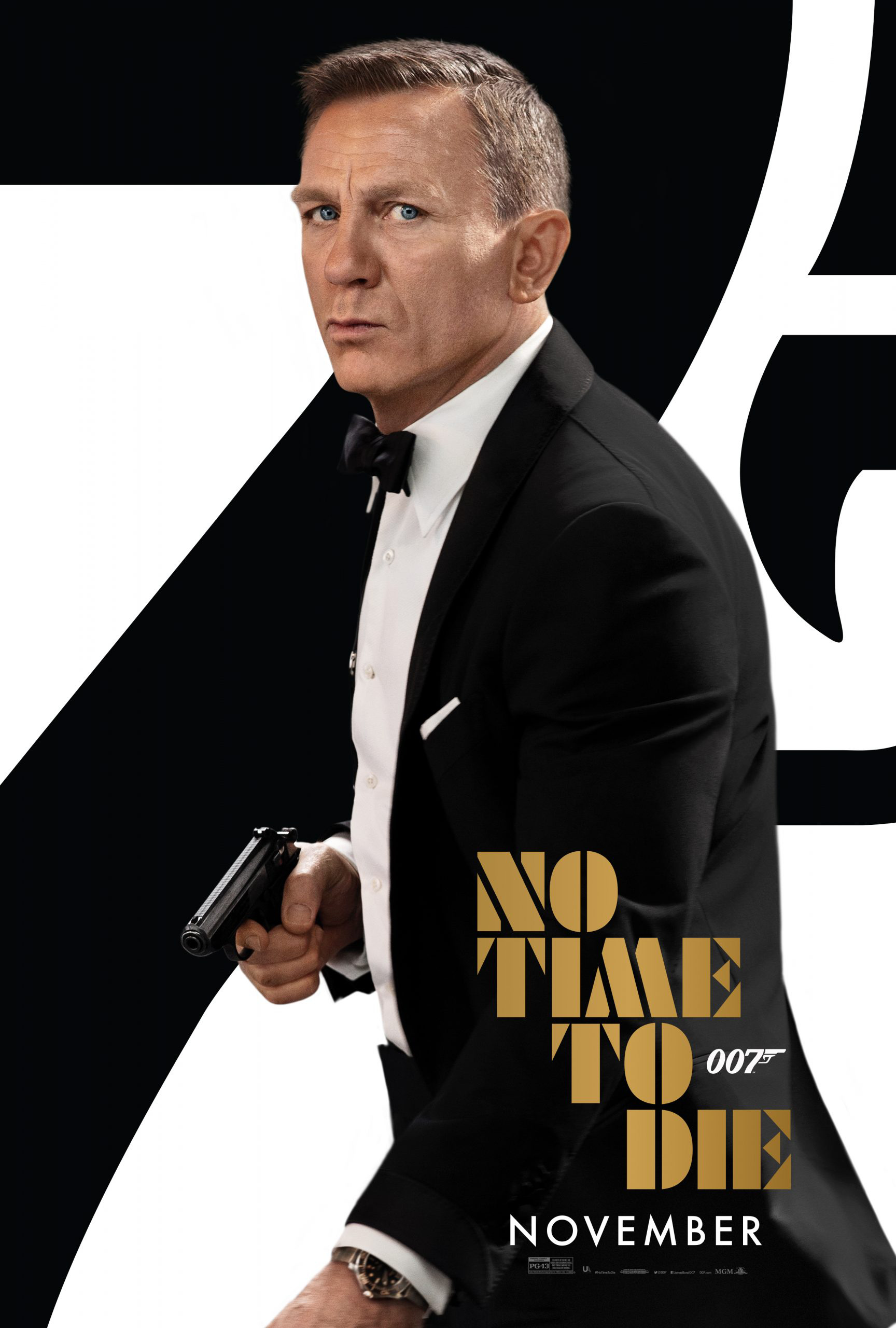 《007:无暇赴死》曝新海报 延期后定档11月上映