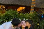 姜潮為麥迪娜浪漫慶生 與兒子齊吻妻子羨煞旁人