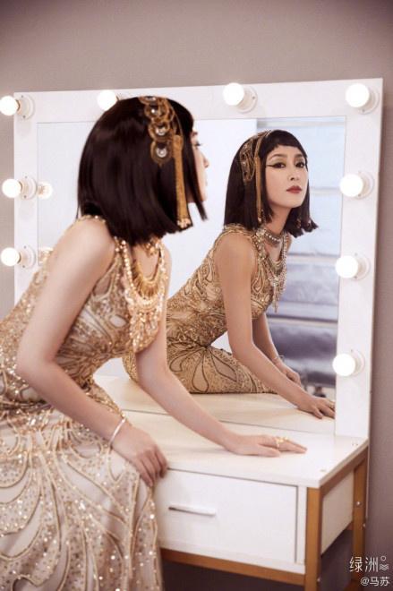 《【杏鑫娱乐总代理】马苏分享异域风情美照扮埃及艳后 妆容魅惑气场强》