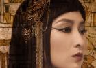 馬蘇分享異域風情美照扮埃及艷后 妝容魅惑氣場強