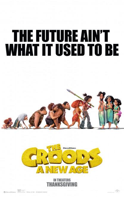 """《疯狂原始人2》发新海报 """"原始人""""遇到新人类"""