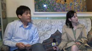 """采访""""兄妹""""演员白宇和宋祖儿 勇敢追梦为中国影人加油"""