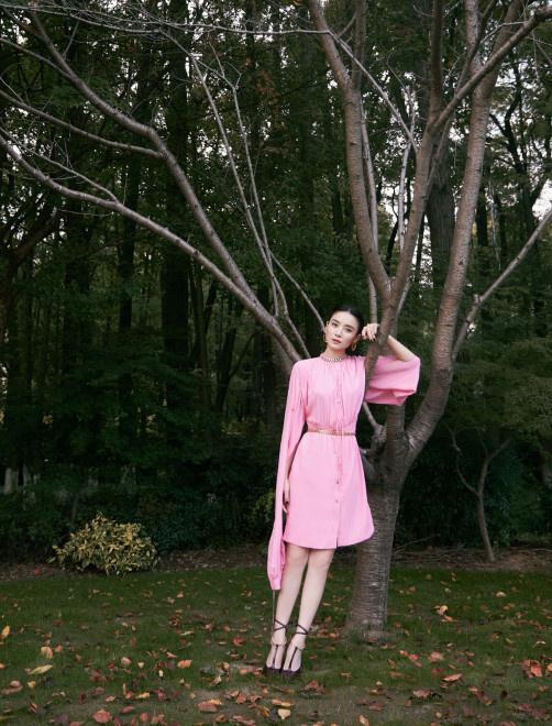 宋佳亮相华语青年电影周开幕 穿粉裙秀白皙玉腿 第4张