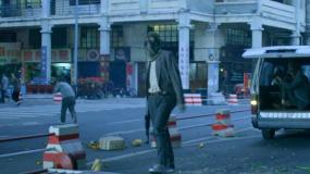 警匪电影《除暴》街头火拼片段