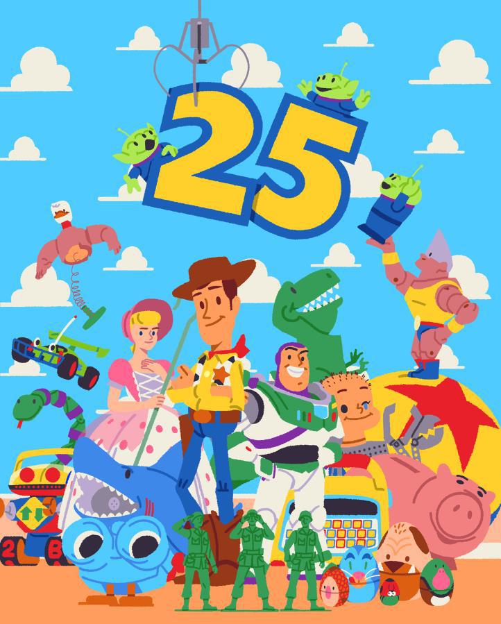 buy apple account:《玩具总动员》上映25周年 皮克斯官方发庆祝海报 第1张