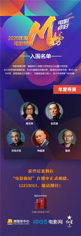 usdt不用实名(caibao.it):2020年电影频道M榜入围名单出炉 巩俐范伟等竞逐 第4张