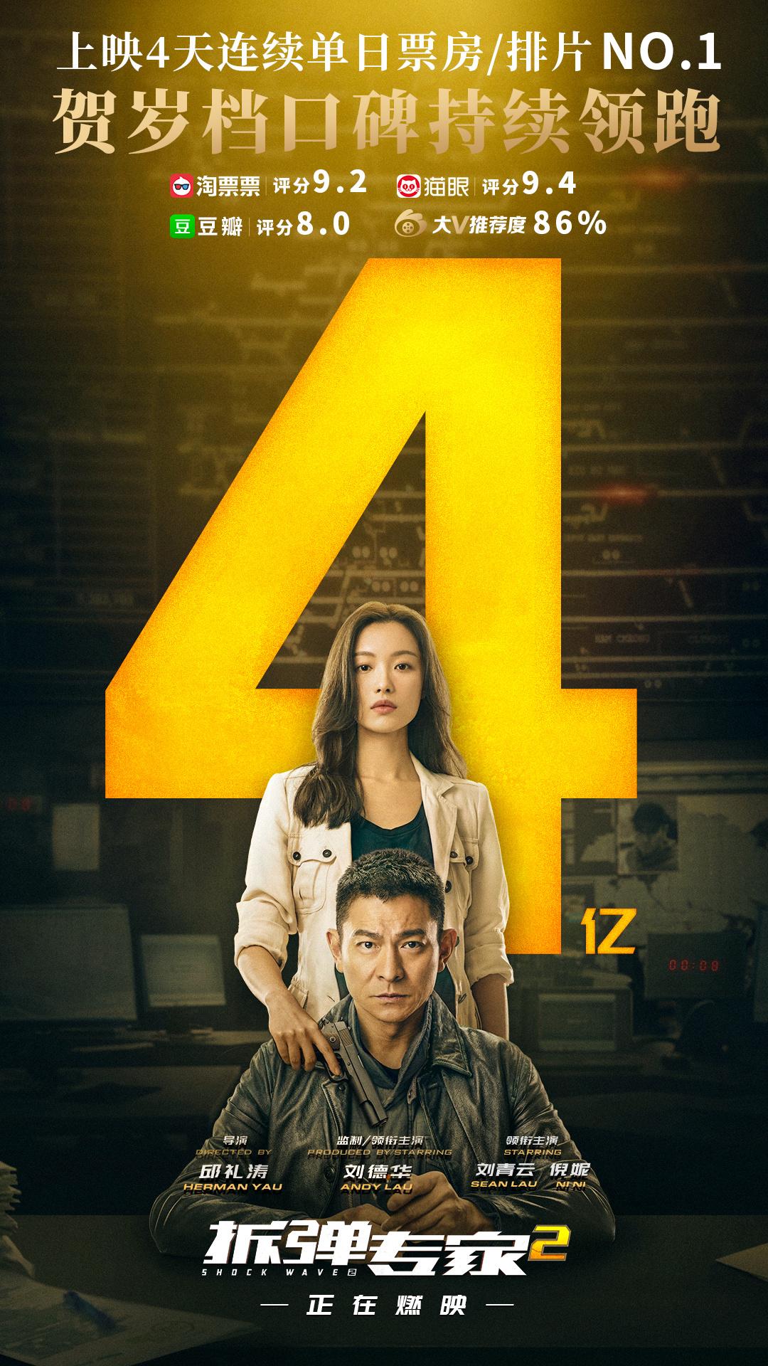 《拆弹专家2》曝光《爆炸特辑》首周末票房破4亿