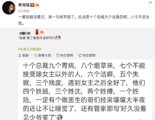 "usdt第三方支付(www.caibao.it):秦海璐指出""总裁文的套路"" 网友:姐才是内行 第1张"