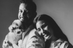 鄭佩佩女兒原子惠和老公一起拍孕肚寫真 體態纖瘦