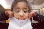 賈靜雯女兒被查出先天弱視 發文稱:還好及早發現