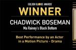 怀念!博斯曼获金球奖最佳男主角 遗孀哽咽领奖