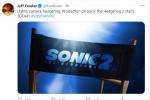杰夫·福勒宣布《刺猬索尼克2》开拍 金·凯瑞回归