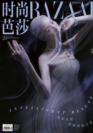 倪妮身穿高定服饰演绎时尚大片 银发新造型超惊艳