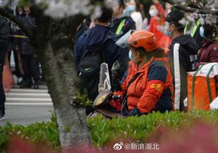 网友偶遇贾玲武汉大学拍戏 饰演志愿者造型接地气