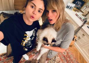 赛琳娜、霉霉抱猫合照温馨有爱 粉丝猜测有望合作