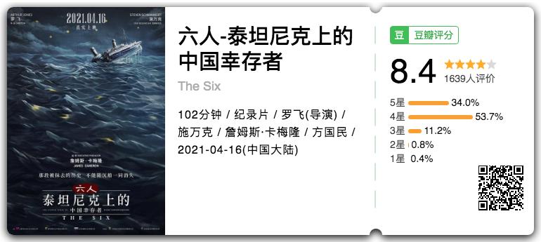 专访 | 8.4分!卡梅隆监制《泰坦尼克号》番外来了