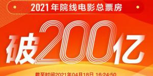 """2021年全国电影总票房突破200亿 """"李焕英""""领跑"""