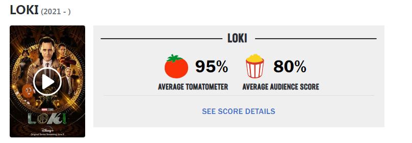 《洛基》烂番茄新鲜95% 开播收视超《旺达幻视》