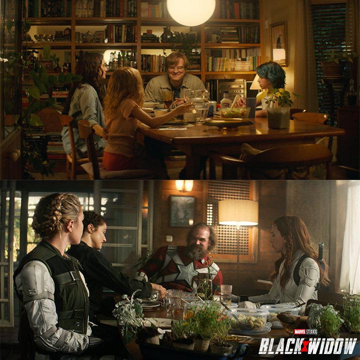 漫威分享《黑寡婦》創作花絮 寡姐全家溫馨聚餐