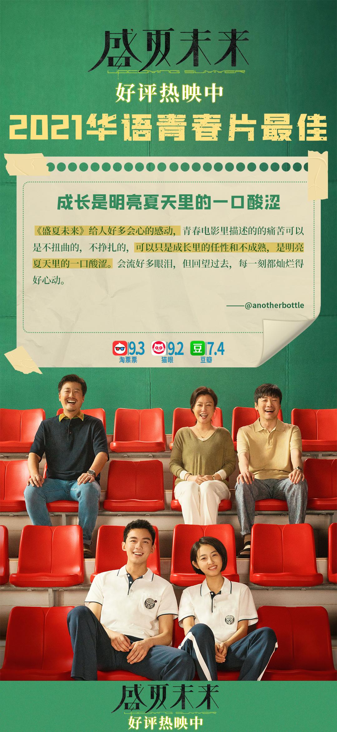 2021华语青春片最佳!《盛夏未来》再获观众肯定