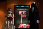 你敢吗?安娜贝尔和鬼修女陪看电影《致命感应》