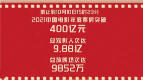 捷报!2021中国电影年度票房突破400亿